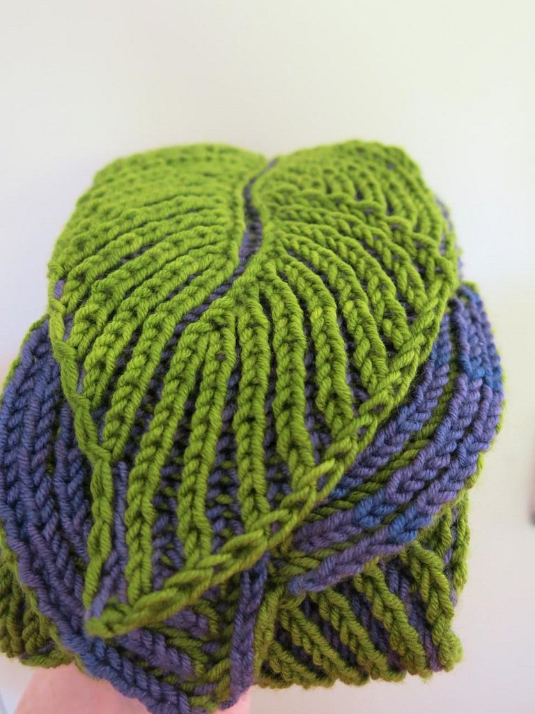 Ravelry: Hosta Brioche Scarf by Nancy Marchant