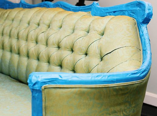 Sofa Sleeper Painting fabric furniture How to change the color of your thrift store finds This is a great idea