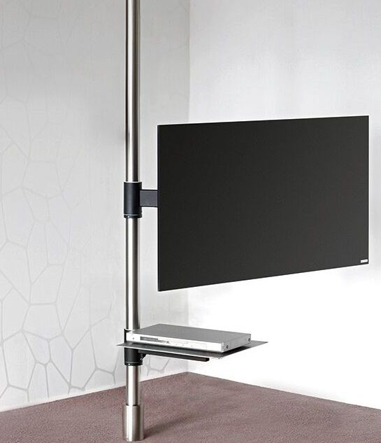 Tv Stand In This Model A Stainless Steel Anchoring Pivotal Column