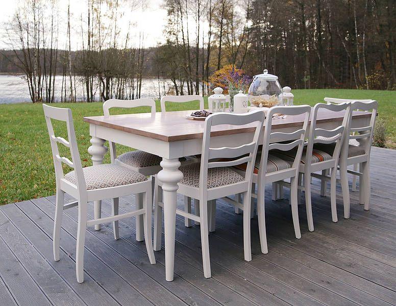 Stół Drewniany Deco Milonipl Stół Rozkładany Mieszczący 10 12