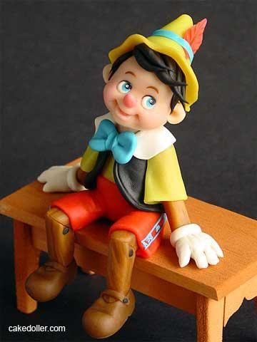 Porcelana fría - Cold porcelain - Sugar Biscuit - Pinocho