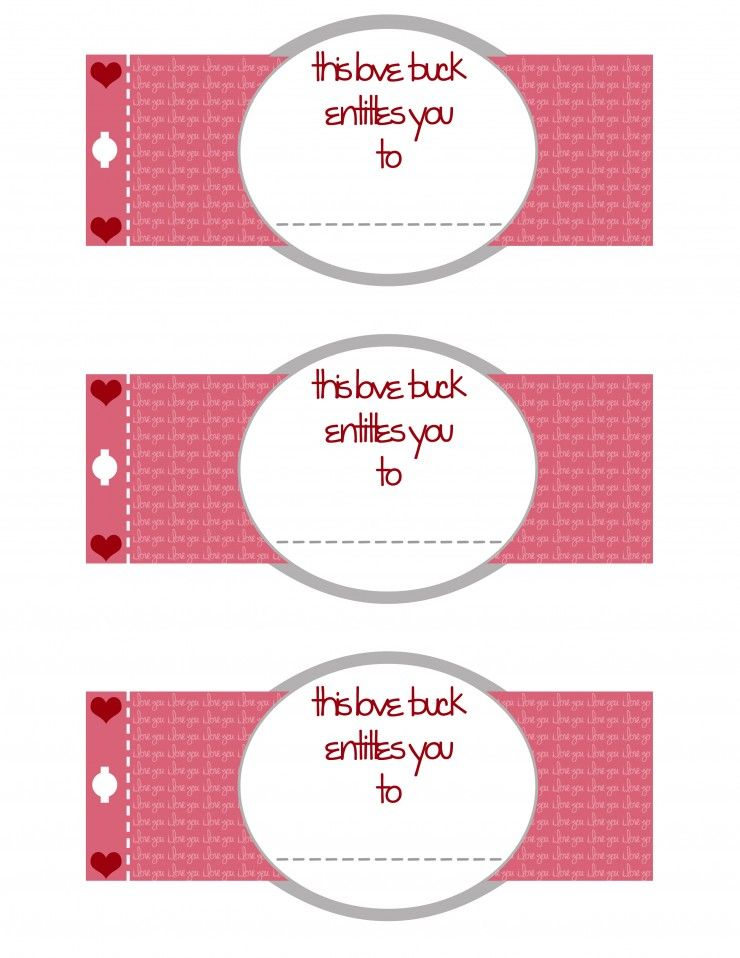 Free Valentine's Day Printable  Love Buck  Coupon Book is part of Free valentine, Valentines printables free, Coupon book, Valentines day gifts for him, Valentines printables, Love coupons - This super cute Free Printable Valentines Day Coupon Book makes for perfect Valentines Day Gifts for Him (or her!) PLUS read on for gift ideas!