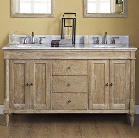 Fairmont Designs Rustic Chic Weathered Oak Double Vanity Bathroom Rustic Bathroom Vanity Diy Fairmont Designs