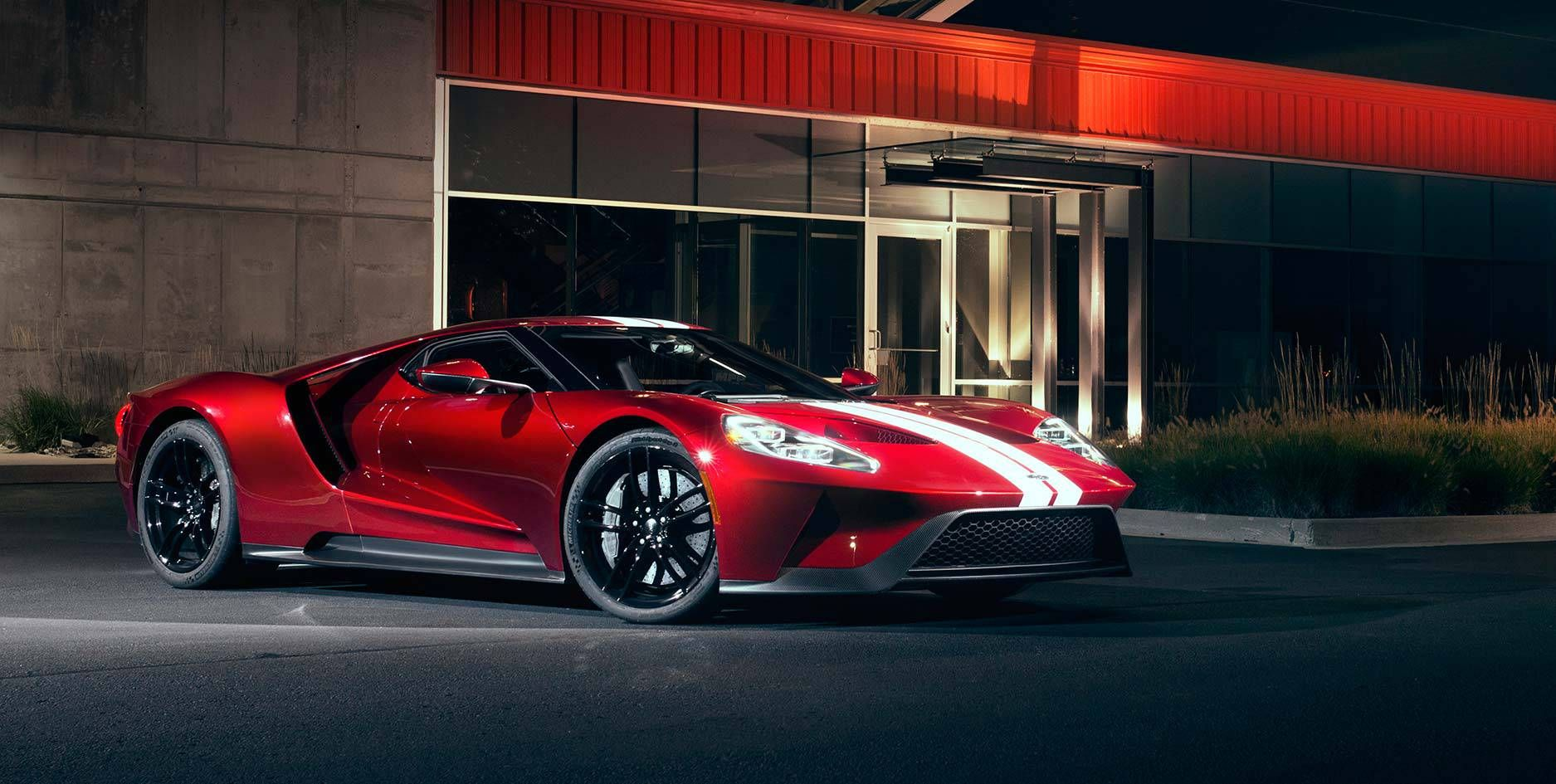 The Ford Gt Gleams At Night Ford Gt Ford Sport Ford Sports Cars