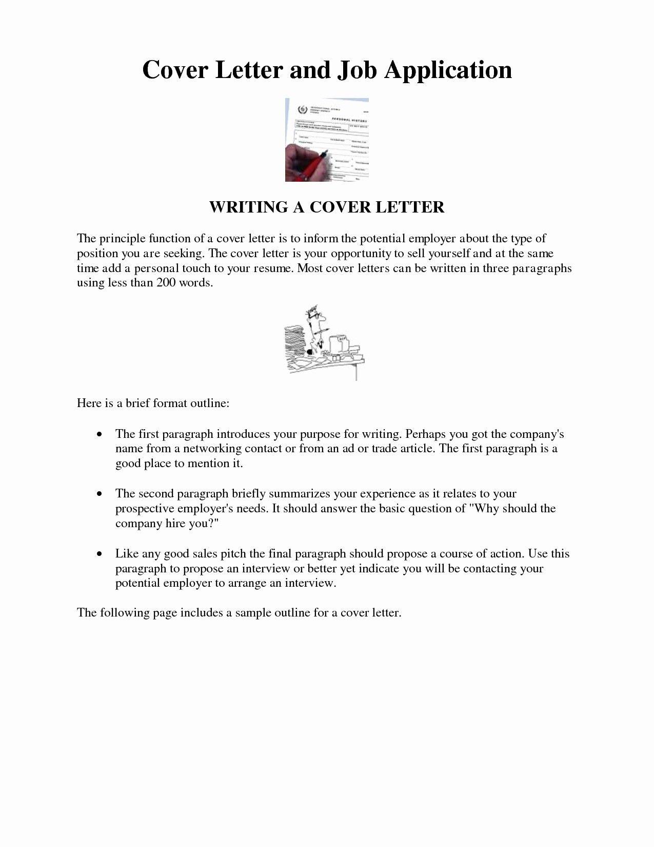 Cover Letter Sample For Job Application Doc
