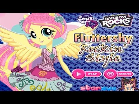 My Little Pony Equestria Girls Fluttershy Rocking Hairstyle Dress - Games for hairstyle and dress up