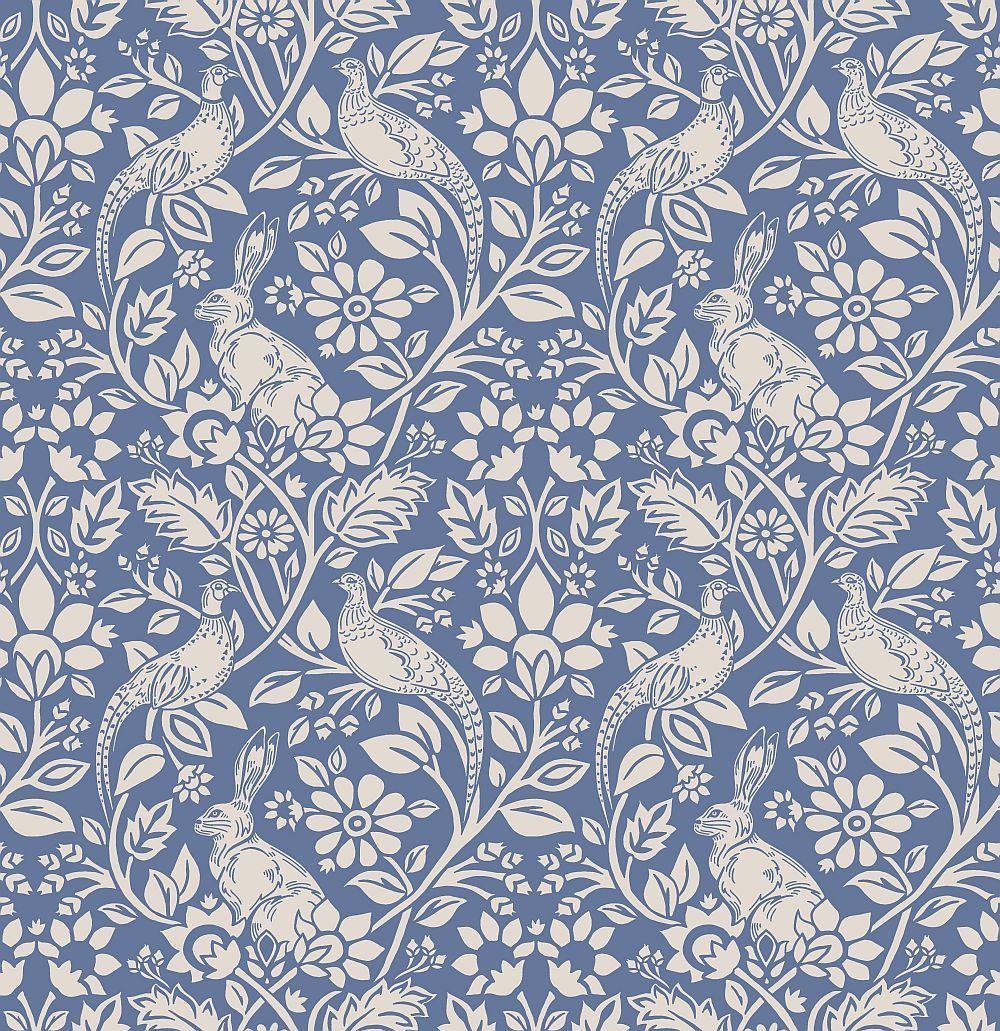 Heathland indigo wallpaper by iliv design pinterest wallpaper