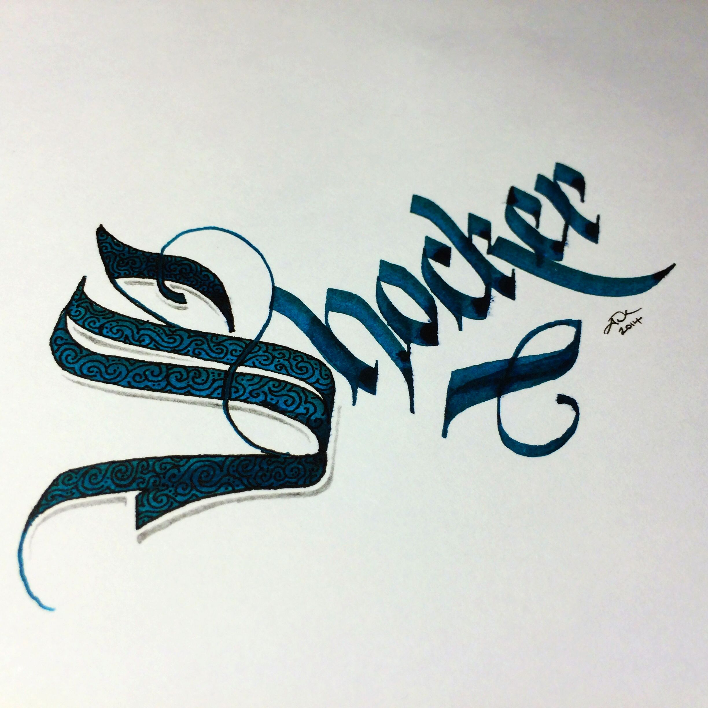 Shocker Calligraphy Parallelpen Blackletter  Type