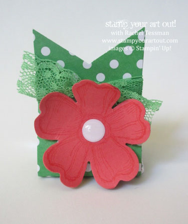 Hershey Nugget treat holder made with Birthday Blossoms stamp set…#stampyourartout #stampinup - Stampin' Up!® - Stamp Your Art Out! www.stampyourartout.com