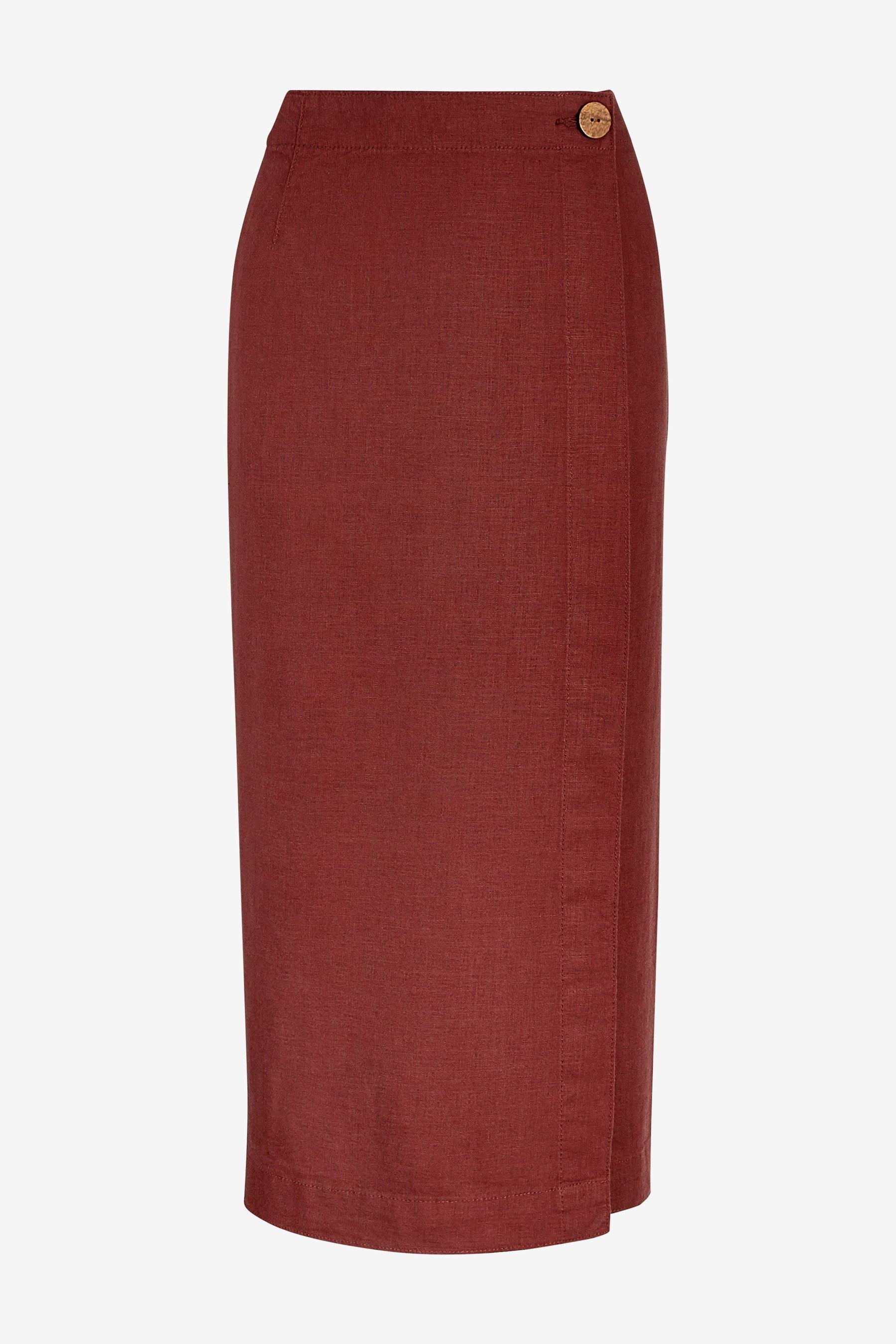 fe7e7eb903 Buy Linen Blend Midi Skirt from the Next UK online shop | Next in ...