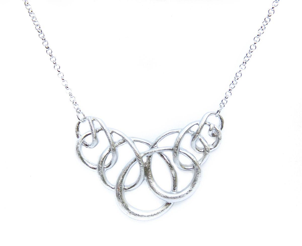 Celine Metal Loop Necklace