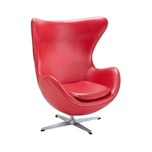 Leather Cell Chair In Red Leather Lounge Chair Leather Lounge Leather Chair