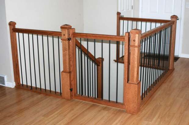 Best Staircases Railings Of Creative Carpentry Inc Staircase Railings Staircase Gate Baby Gate 400 x 300