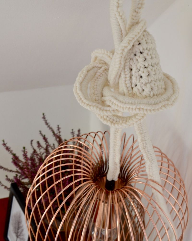 lapinblu | deck the hall with BandQ autumn winter 2014… | http://www.lapinblu.com crochet around lamp flex for homespun, personal style...