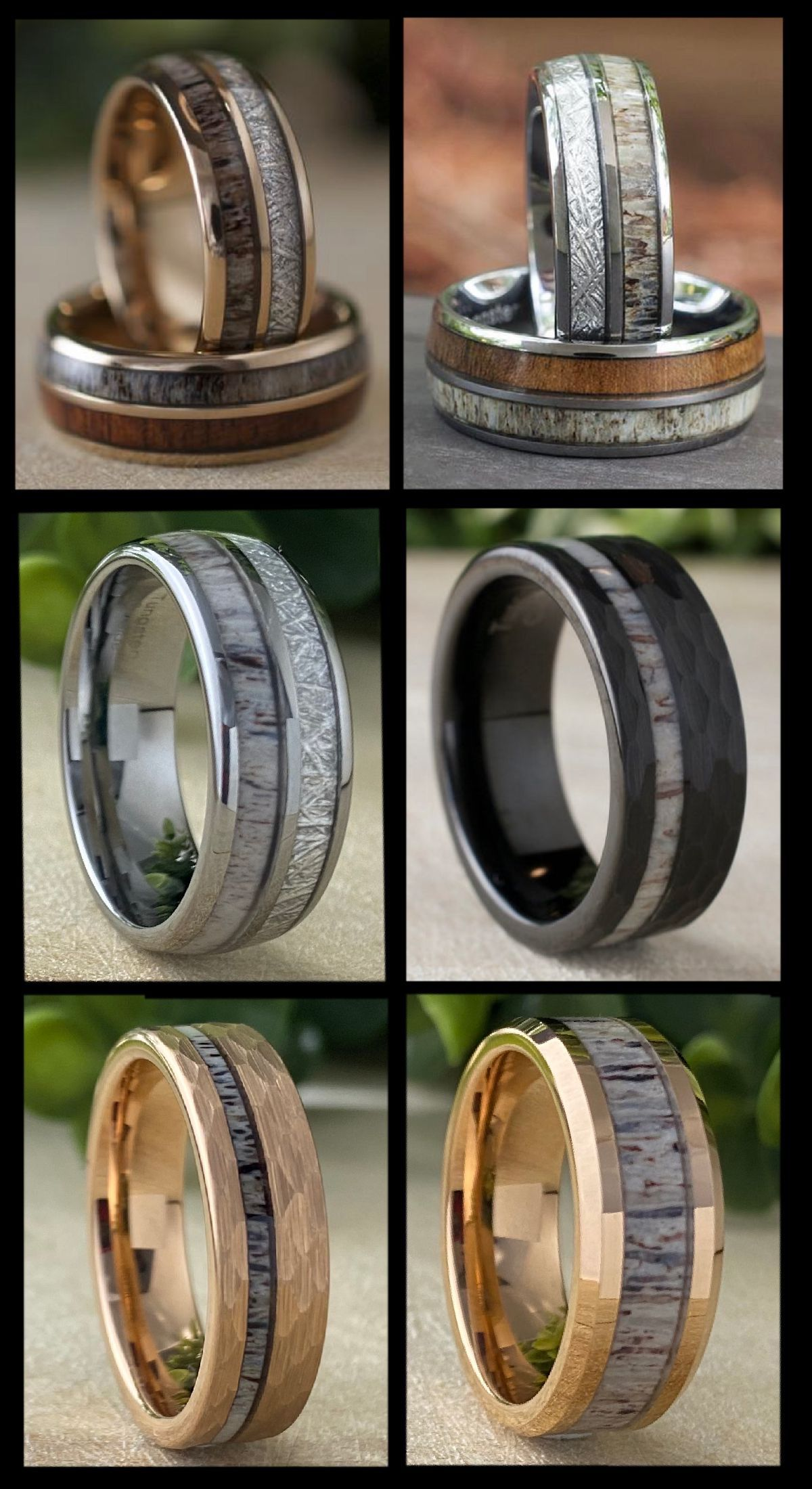 Pin On Wedding Band Men Women Wood Tungsten Rings