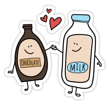 Better Together Chocolate Milk Love Sticker By Nesttonest In 2021 Chocolate Milk Mothers Day Drawings Milk Art