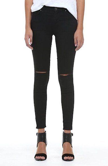 7f5690e0636 Topshop Moto 'Leigh' Ripped Skinny Jeans (Black) (Regular, Short & Long) |  Nordstrom