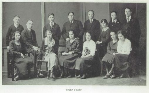 The 1921 Staff Of The Tiger Yearbook At Beaver Falls High School