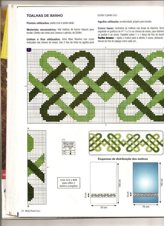 Sexta feira meninas, dia de ser feliz!  hoje trouxe alguns gráficos especias para jogo de toalhas para casal, espero que gostem:            ...