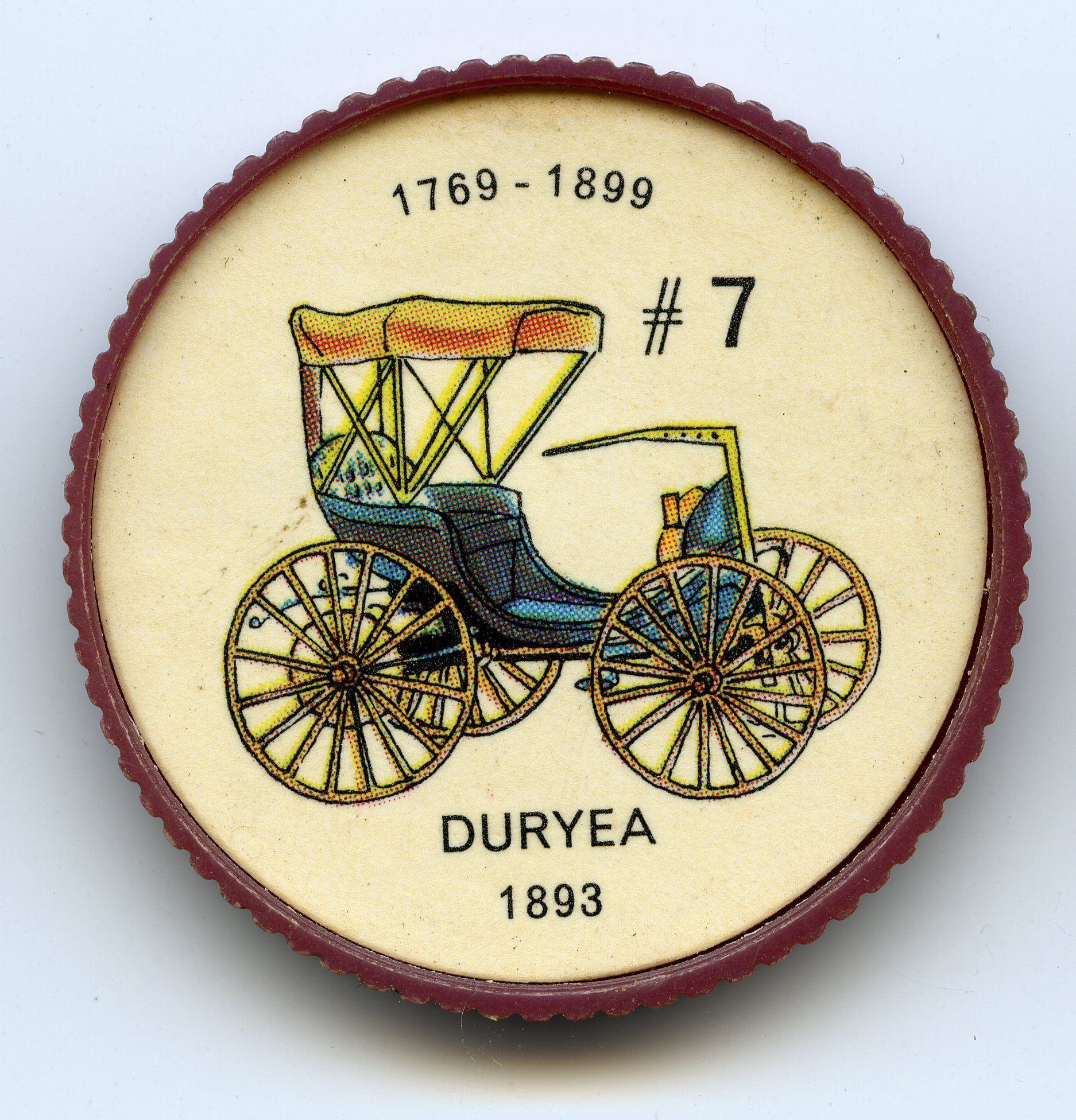 Jello-O Coin 7 - Duryea (1893) - The Duryea was one of the first ...