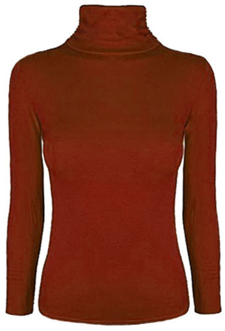 a82aeb934d00f4 Ladies Turtle Polo High Neck Jumper Top Womens Long Sleeve Stretch Jumper  Top#High#Neck#Polo