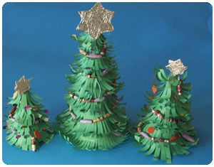make a paper christmas tree kids art and crafts - How To Make A Paper Christmas Tree