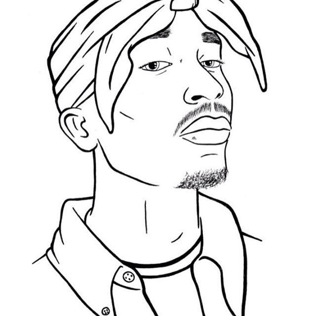Tupac Tupac Art Drawing Desenhos De Gangster Desenhos Do Coringa Desenhos Diferentes