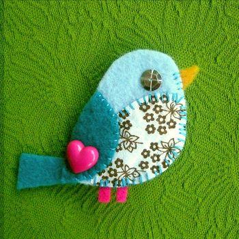 blue bird floral