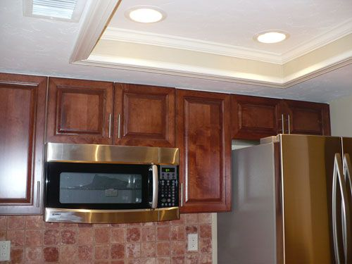 recessed lighting used in modern kitchen designs | diy | pinterest