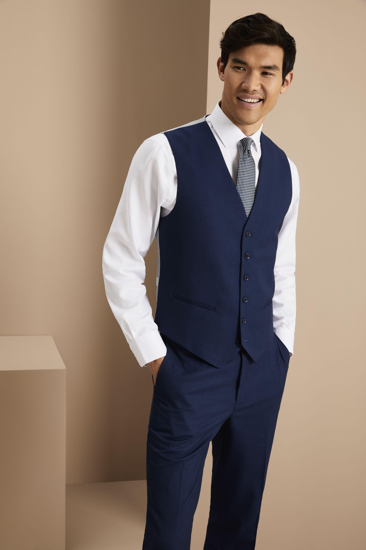 d01b4ab75c7e Simon Jersey Men's Contemporary Waistcoat - Blue   Suit Up! in 2019 ...