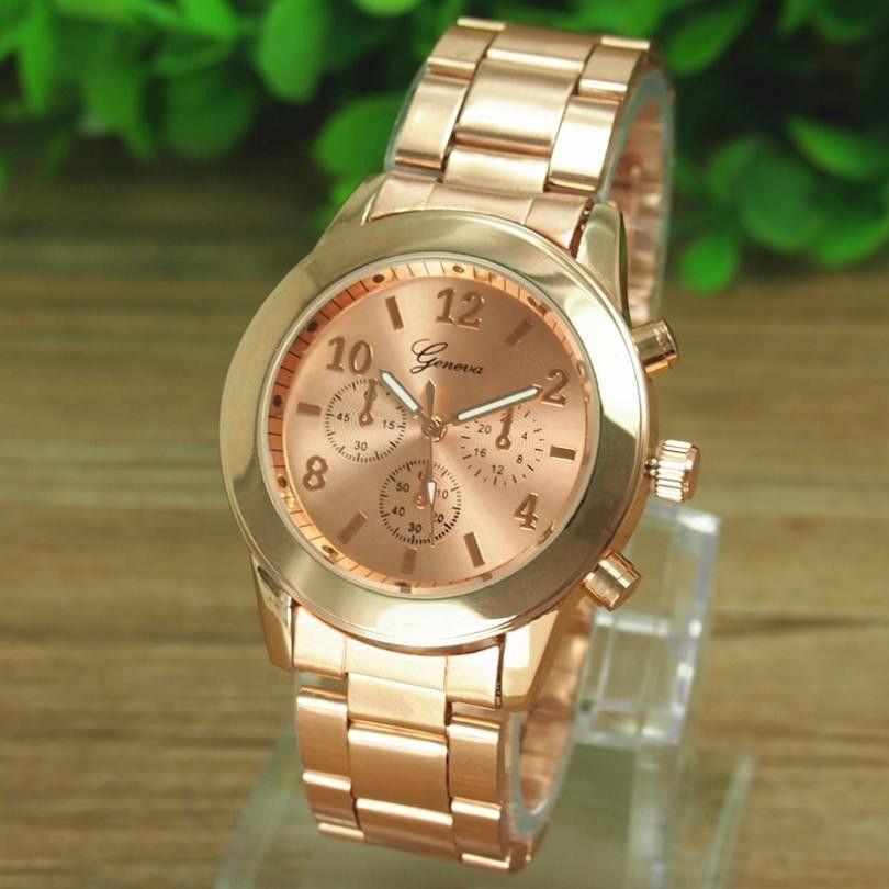 aa2798e1cb95 Stainless Steel Bangle Wrist Watch