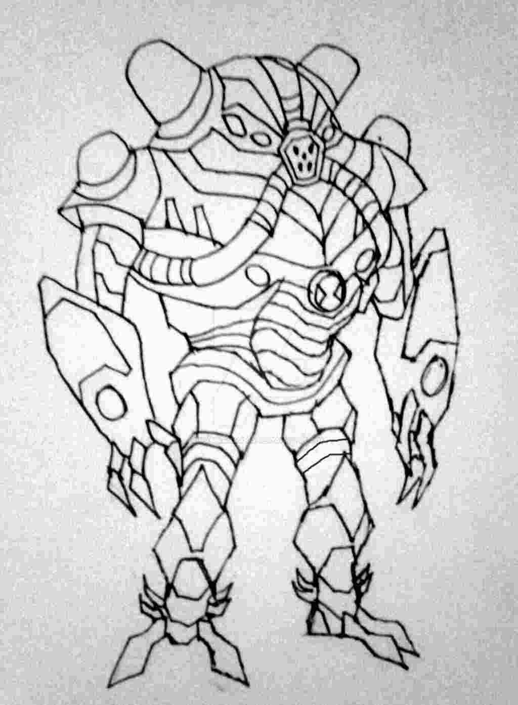 Ben 10 Overflow Coloring Ben 10 Coloring Pages Coloring Book Pages
