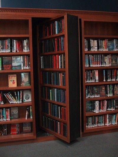 Hidden library door (very cool) & Hidden library door (very cool) | Doors \u0026 Architecture | Pinterest ...