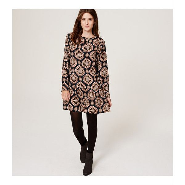 O neck long sleeve dress loft