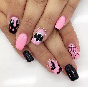 Top 10 Halloween Nail Art Ideas Makeup Tutorials Halloween Nail Designs Hot Nail Designs Pastel Goth Nails