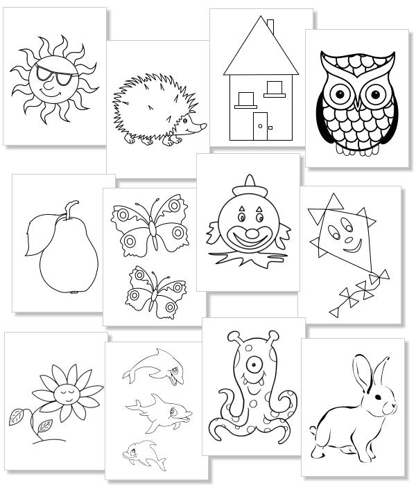 das malbuch mit sehr einfachen motiven für kleinkinder