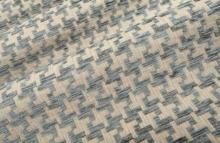 Great Scott In Gray Blue Is A Light Blue Houndstooth Upholstery