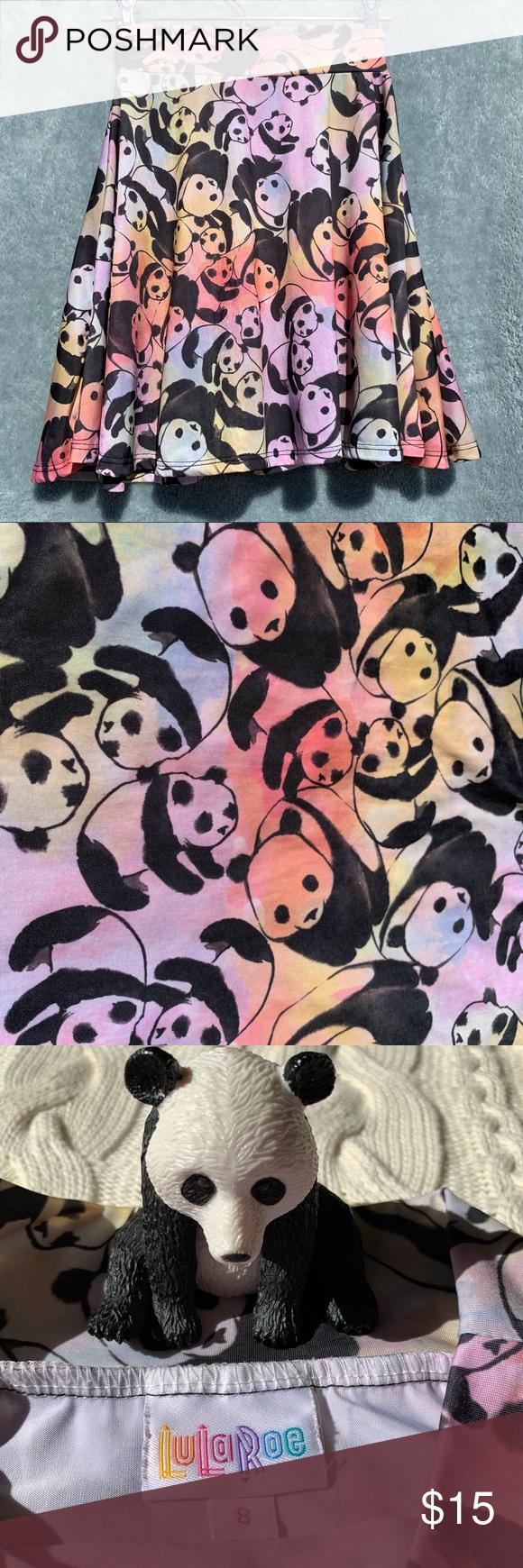 LuLaRoe Kids Size 8 Skirt Azure Panda Rainbow LuLaRoe Kids Skirt Size 8 Good used condition, no wash... - #azure #lularoe #panda #rainbow #skirt - #RainbowClothes