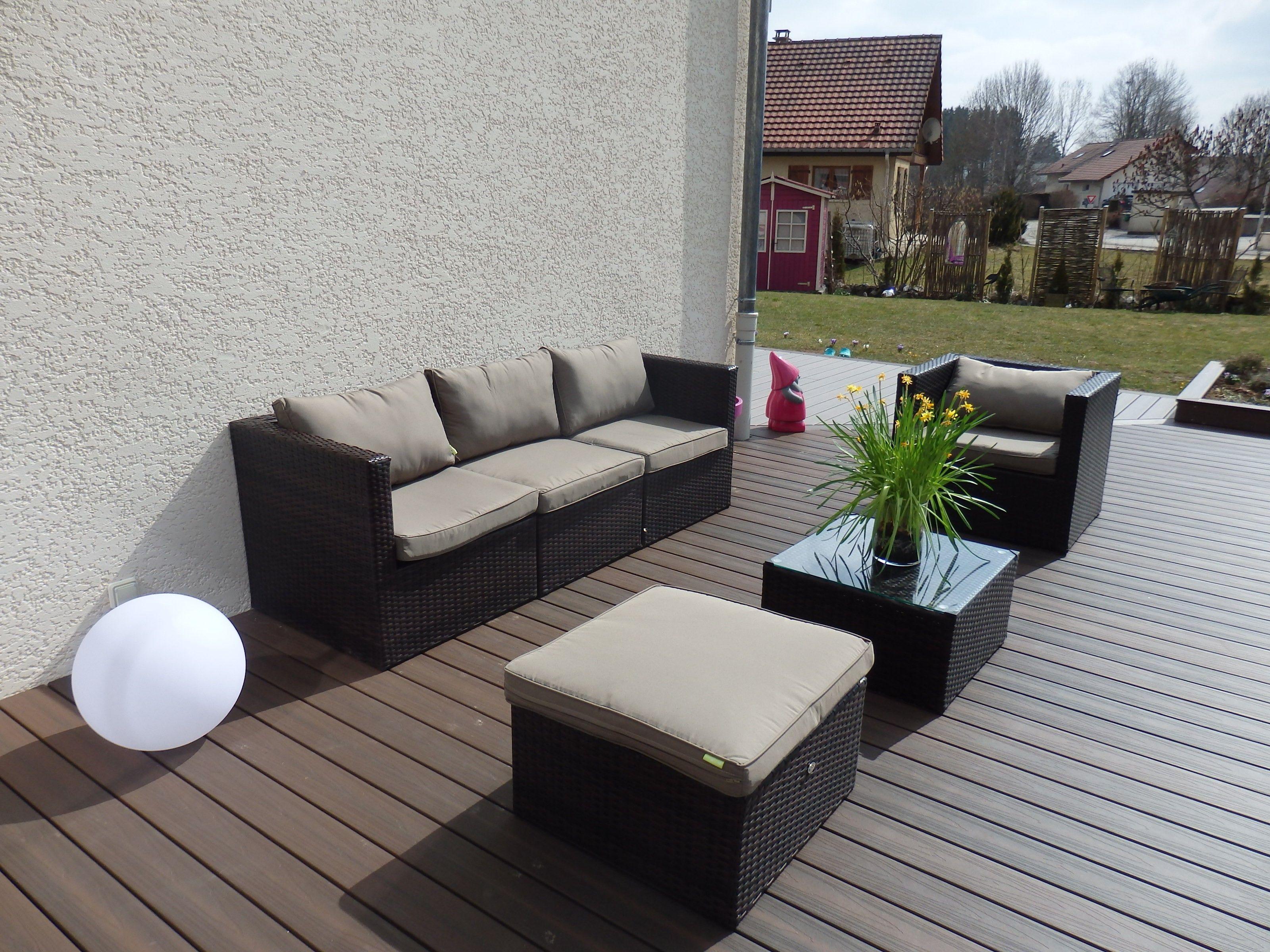 inspirant salon de jardin aluminium et resine tressee | Décoration ...