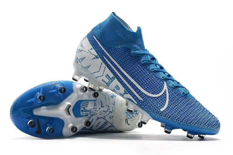 Nike Mercurial Superfly 7 Elite Ag Pro New Lights Blue Hero White In 2020 Superfly Blue And White Soccer Cleats Nike