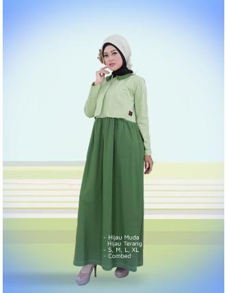 Beli Baju Dress Wanita Gamis Qirani Dewasa Q193 Hijau Dari Aprilia