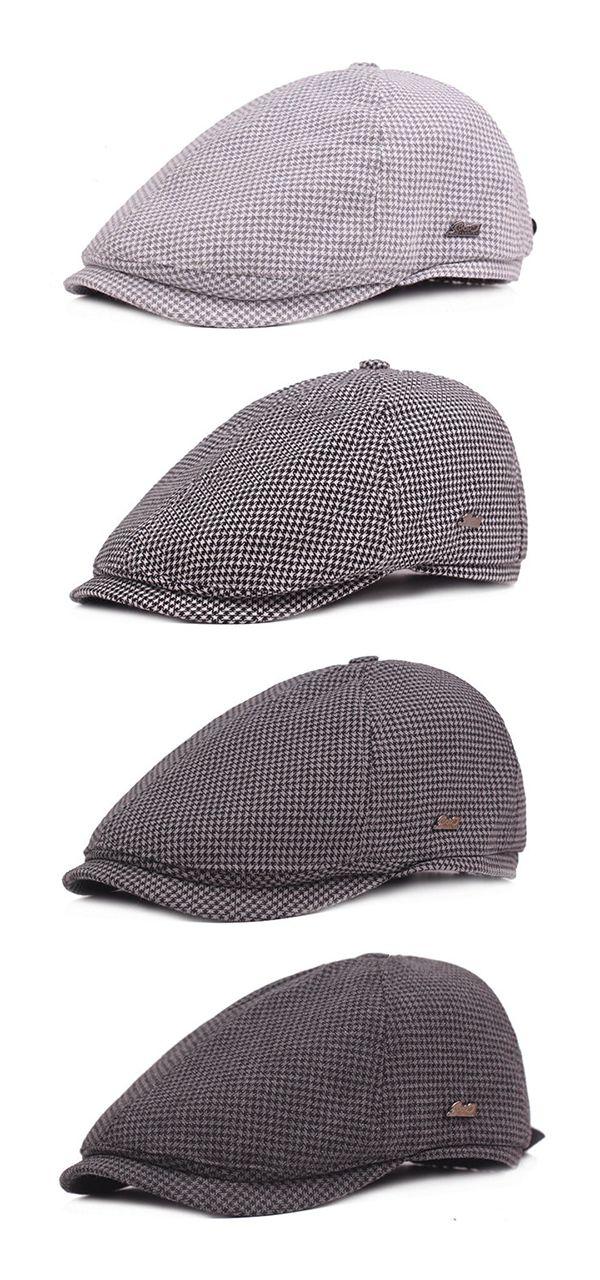 ffb916cfdc4 Men Plover Lattice Cotton Beret Cap  winter  outfits  outdoors ...