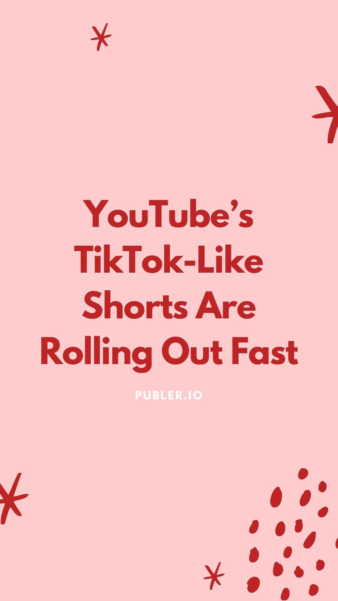 Youtube S Tiktok Like Shorts Are Rolling Out Fast Video In 2021 Marketing Plan Small Business Marketing Content Marketing