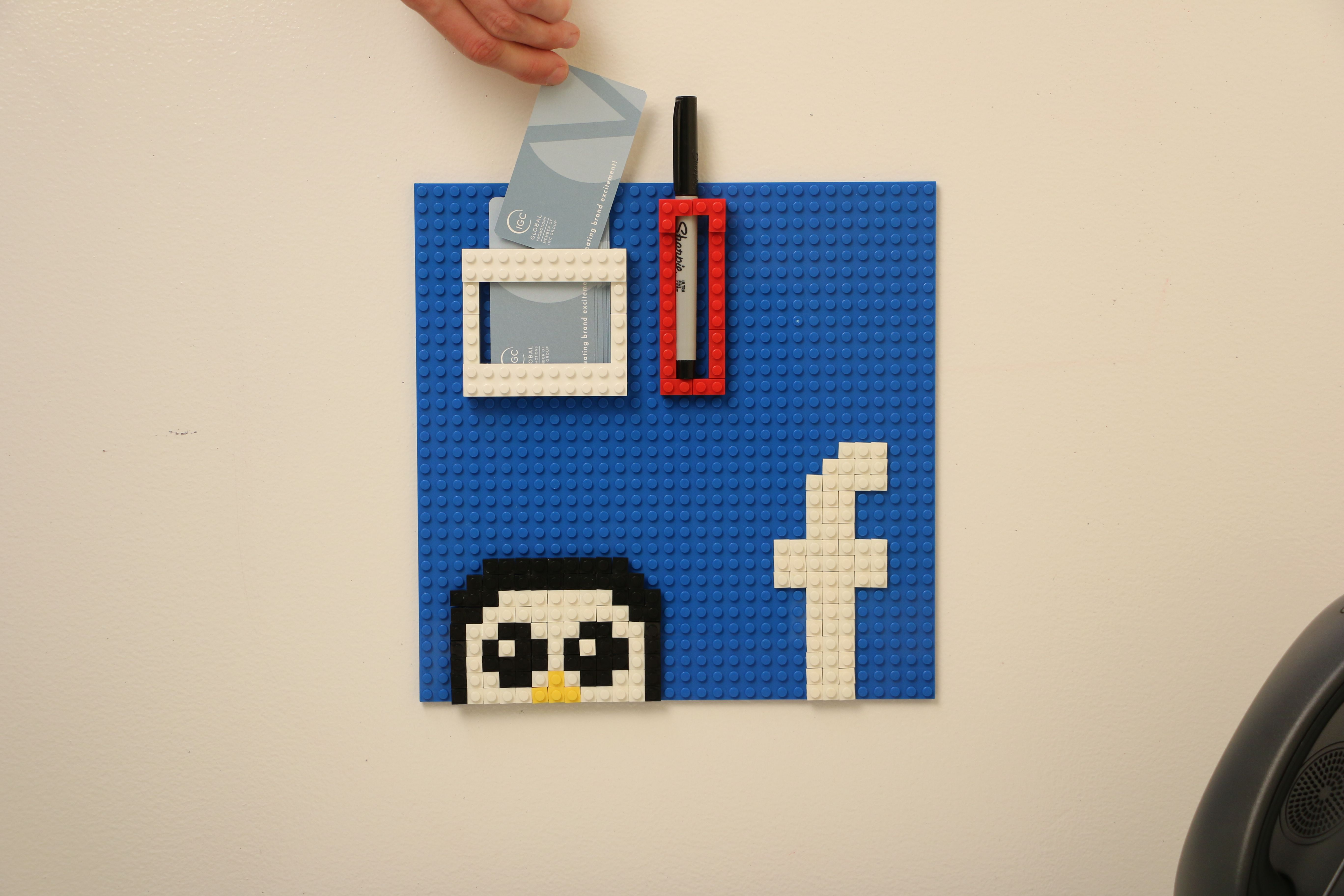 Office Business Card Holder Lego Wall Build Your Own At