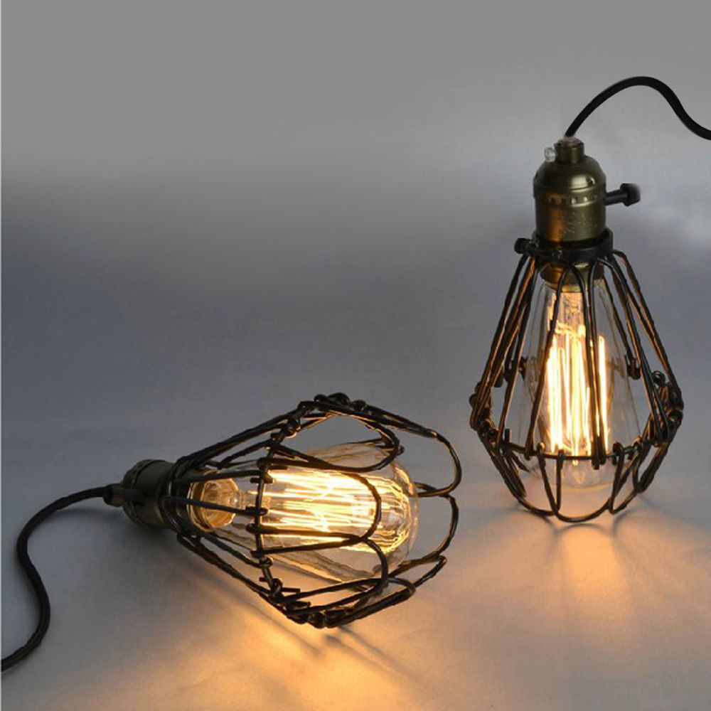 new industrial retro cage vintage kitchen bar pendant lamp hanging