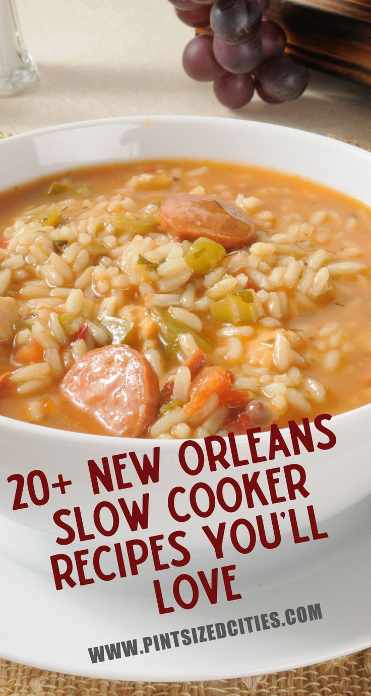 These 20 New Orleans inspired Slow Cooker meals are perfect for busy parents. Di...