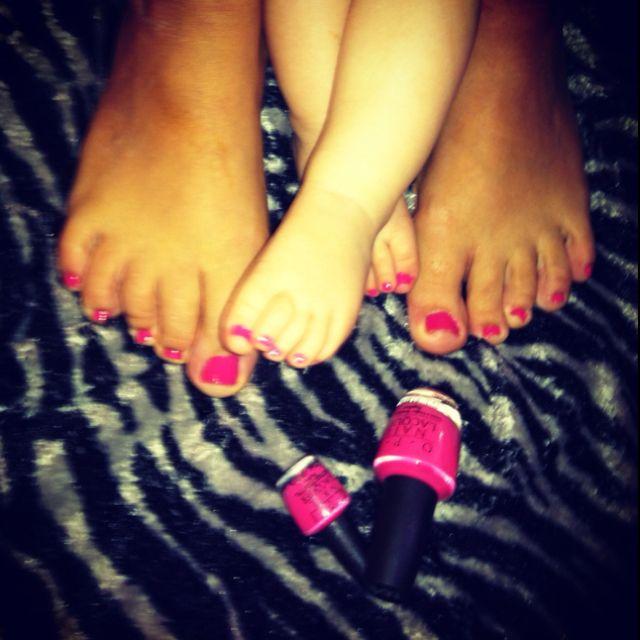 mommy & me OPI - Strawberry Margarita. SO CUTE