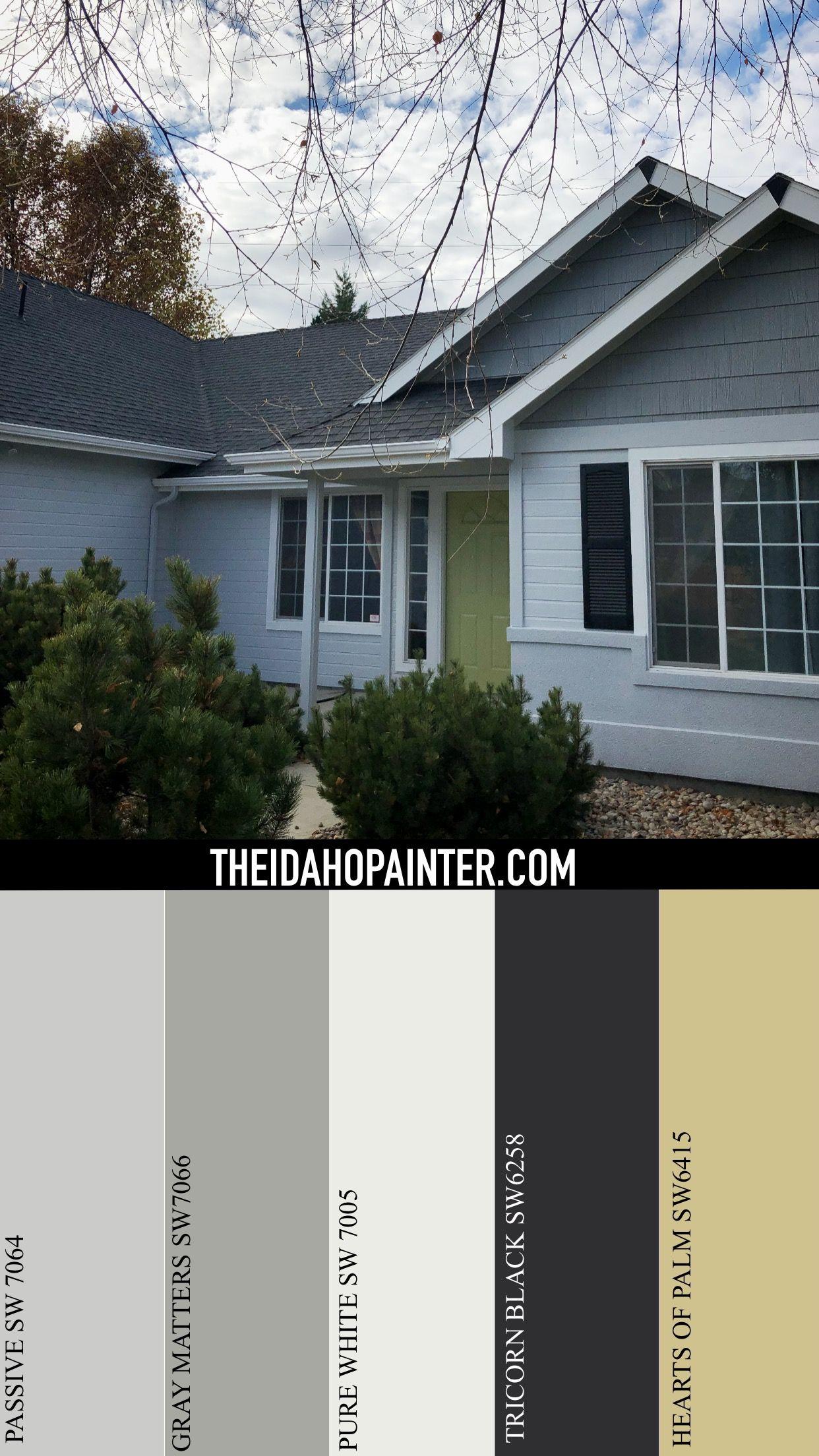 Modern Grey Color Scheme Exterior House Colors House Colors