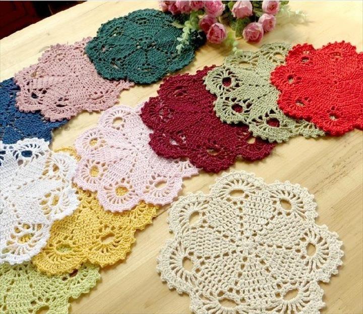 42 Quick Easy Crochet Doily Pattern Crochet Doilies Pinterest