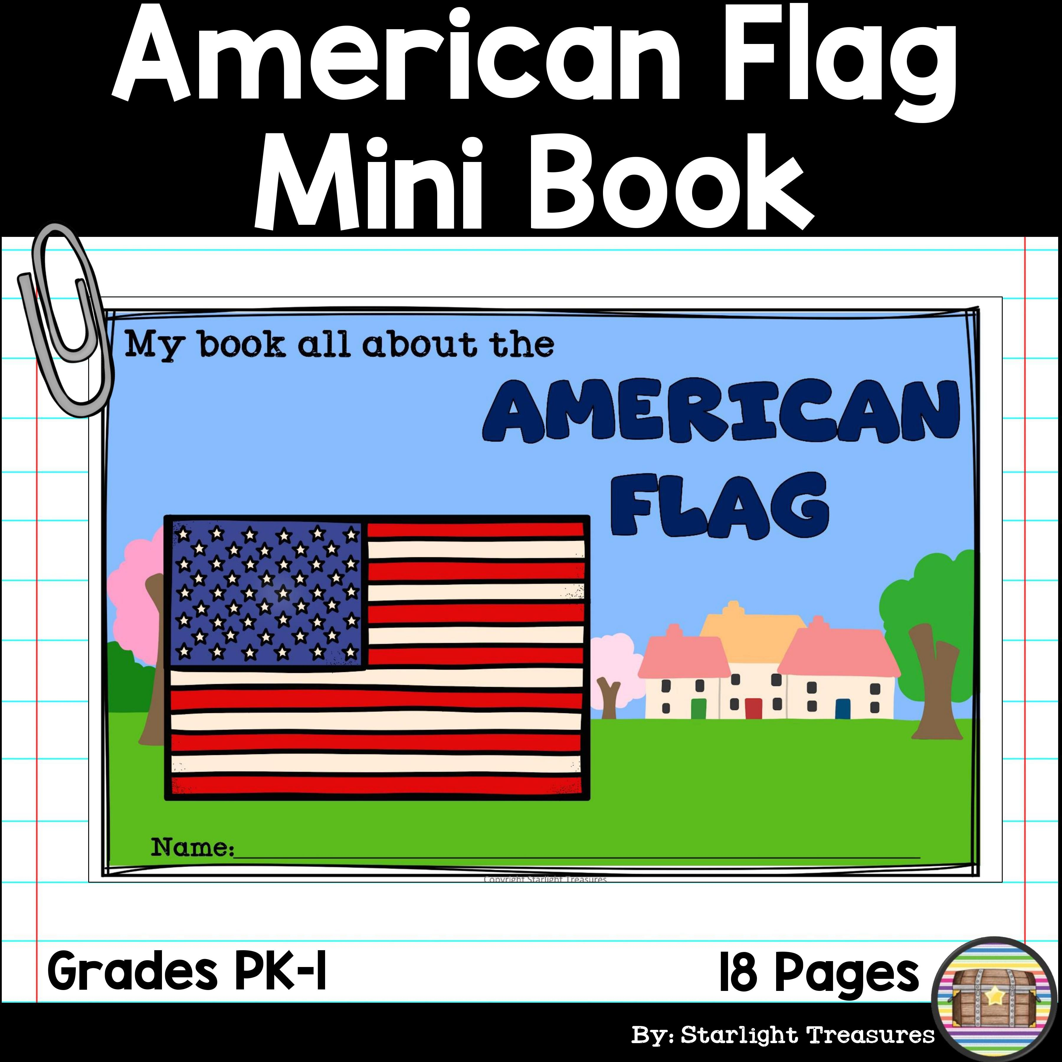 American Flag Mini Book For Early Readers American